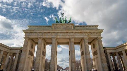 Brandenburg Gate or Brandenburger Tor in Berlin Germany