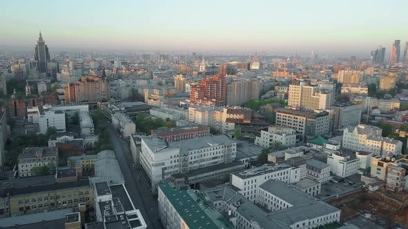Thumbnail for Aerial Panorama of Morning Moscow, Russia