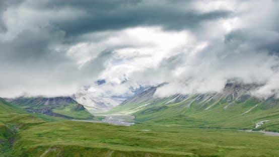 Thumbnail for Time Lapse Mountains, Alaska. Sunrise, Sunset