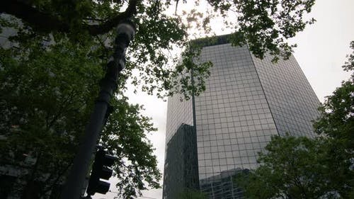Corporate Business Building Background Slow Motion