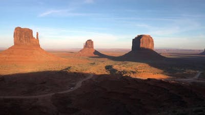 Panning view of Monument Valley
