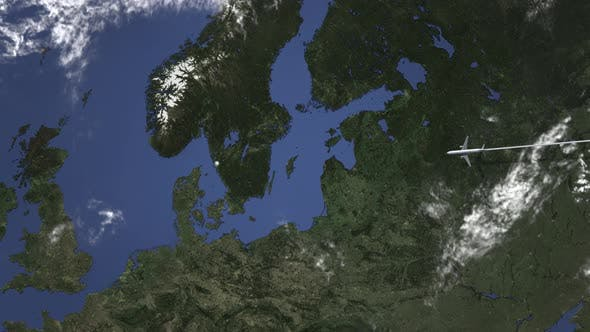 Thumbnail for Commercial Plane Arrives To Gothenburg Sweden