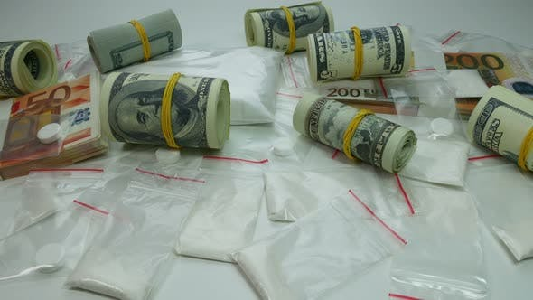 Thumbnail for Dirty Money From The Sale Of Cocaine And Narcotic Tablets
