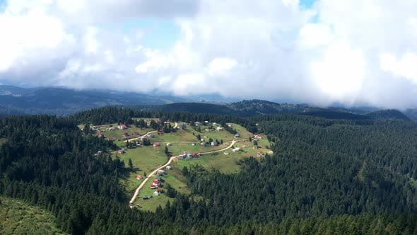 Thumbnail for Trabzon Village Mountains Forest And Cloud Shadows Aerial Hyperlapse
