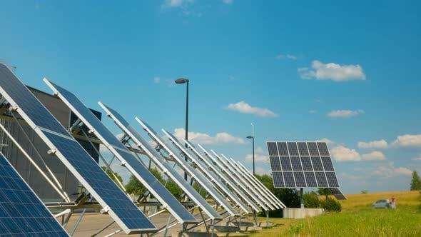 Thumbnail for Solar panels near the modern enterprise