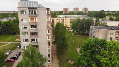 Ussr Type Block Living Buildings In Lithuania