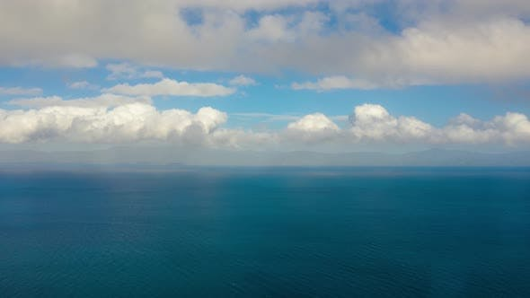 Thumbnail for Seascape, Blue Sea, Sky with Clouds and Islands, Time Lapse