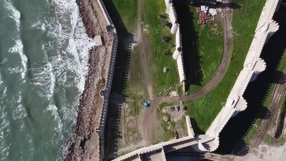 Historical Medieval Castle Aerial Drone