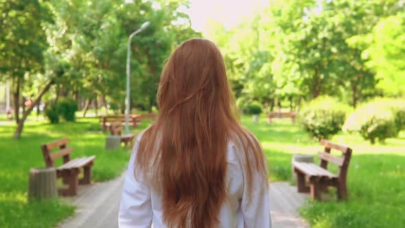Thumbnail for Redhead Female Going Outdoors