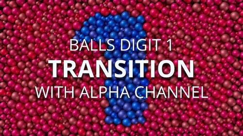 Balls Pearls Digit 1 transition