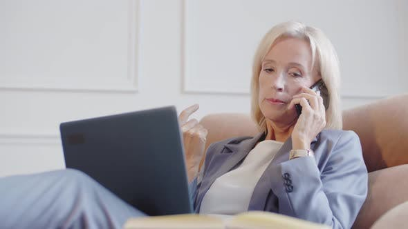 Thumbnail for Woman Talking to Business Partner Using Phone