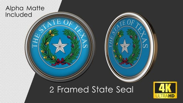Framed Seal Of Texas State