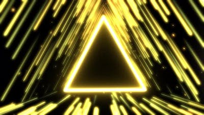 Abstract Triangle Gold Background