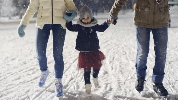 Thumbnail for Cutie Ice-Skating with Parents