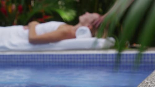 Tropical spa, rack focus, Costa Rica. Shot on RED EPIC for high quality 4K, UHD, Ultra HD resolution