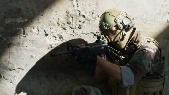 Sniper Aiming at Camera
