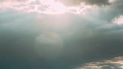 Rain Clouds In Cloudy Blue Sky
