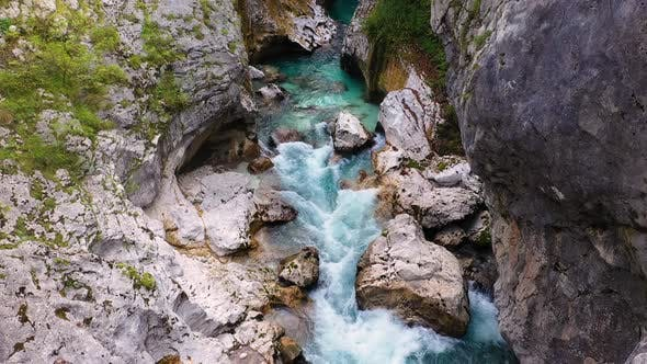 Thumbnail for Flight above River in the Triglav National Park