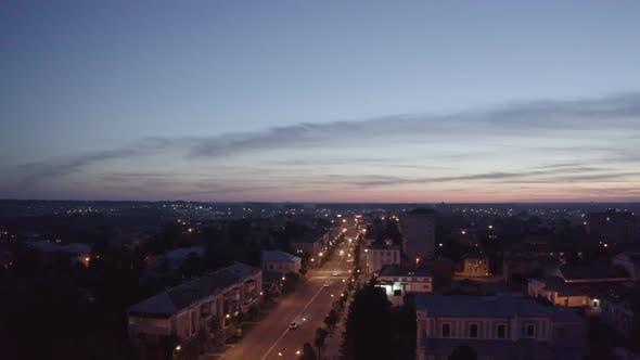 Cover Image for Night Streets City Berdichev, Ukraine