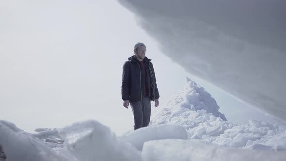 Thumbnail for Man Walking on the Glacier