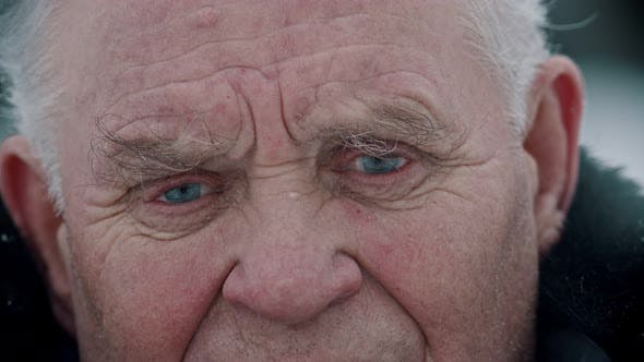 Thumbnail for Elderly Grandfather - Old Grandfather with Sad Eyes Full of Tears