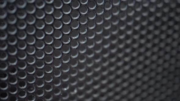 Old Black Metal Grille Background Slider Shot