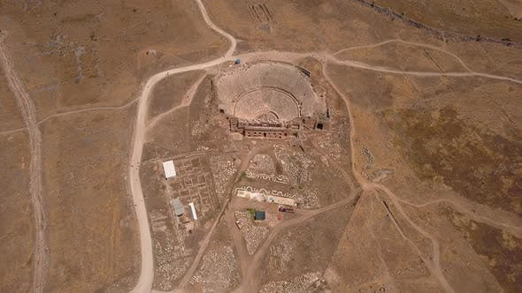 Thumbnail for Aerial View of Pamukkale Hierapolis Theatre Ancient City in Pamukkale.