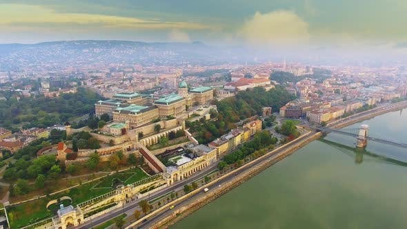 The Buda Royal Castle, a Beautiful Baroque Palace Located on the Castle Hill