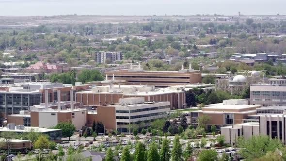 Thumbnail for Vue panoramique sur Provo Utah vue BYU et le centre-ville
