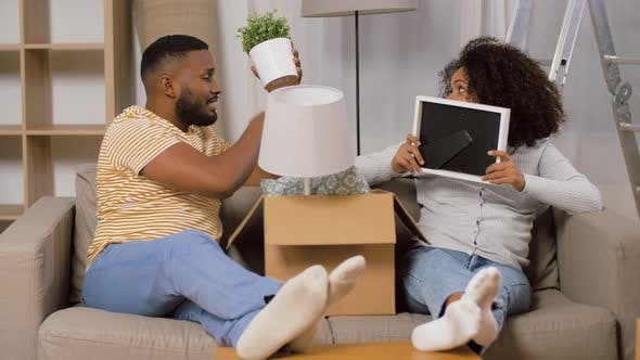 Thumbnail for Happy Couple with Boxes Moving To New Home