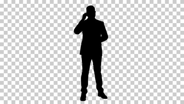 Thumbnail for Silhouette businessman, Alpha Channel