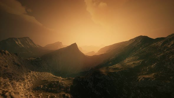 Thumbnail for High Mountain Peaks Covered with Dramatic Heavy Fog