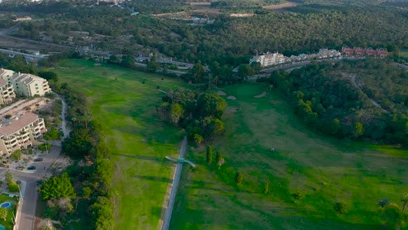 Thumbnail for Aerial View. Beautiful View of Golf Course Looking Down
