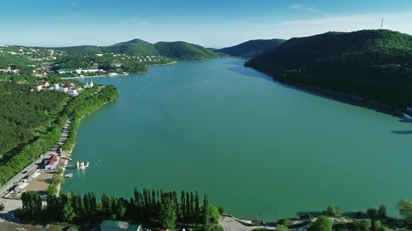 Abrau Durso Lake, Caucasus, Russia
