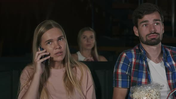 Thumbnail for Annoying Woman on the Phone During Movie at the Cinema