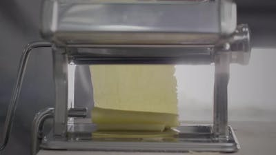 Dough for pasta in pasta machine