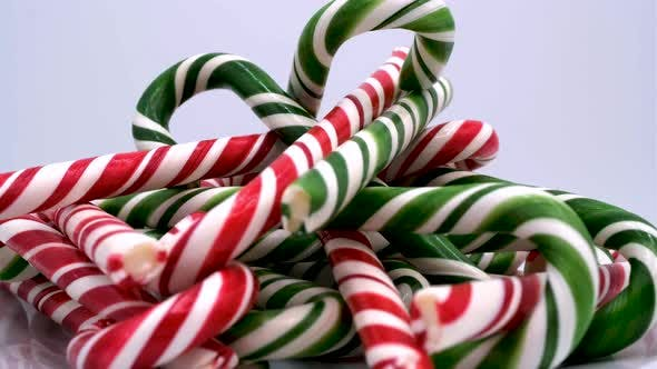 Christmas candy cane caramels