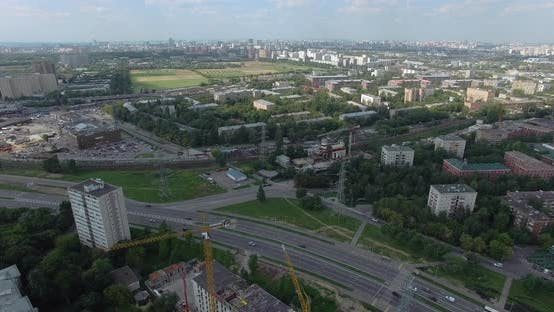 Thumbnail for Aerial Urban Scene in Summer. Moscow Cityscape, Russia