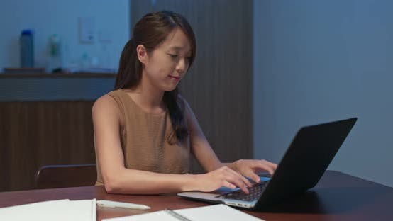 Thumbnail for Woman work on laptop computer at home