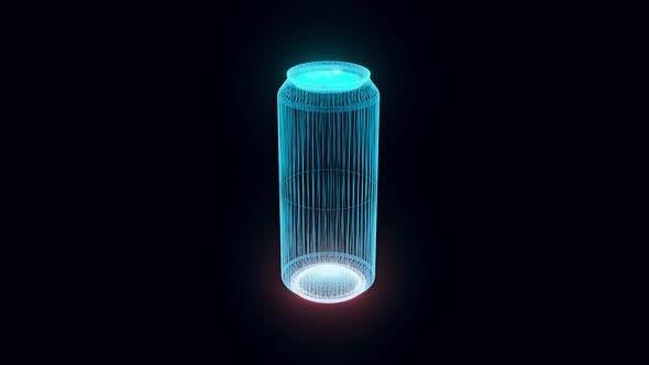 Aluminum Can Hologram Rotating Hd