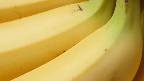 Thumbnail for Banana fruit background fresh arranged in a row 4K 2160p 30fps UltraHD tilt footage - Musa acuminata