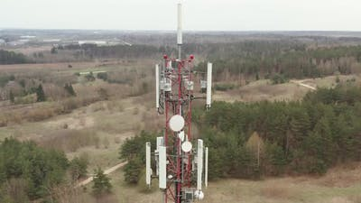 Cell Tower Antennas Radio Transmitters or Cellular 5g 4g radio frequency