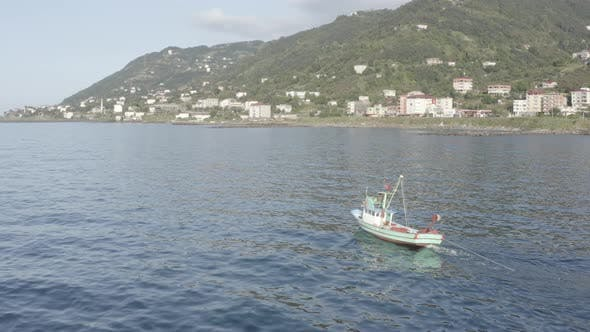Thumbnail for Trabzon City Fisher Boat Aerial View