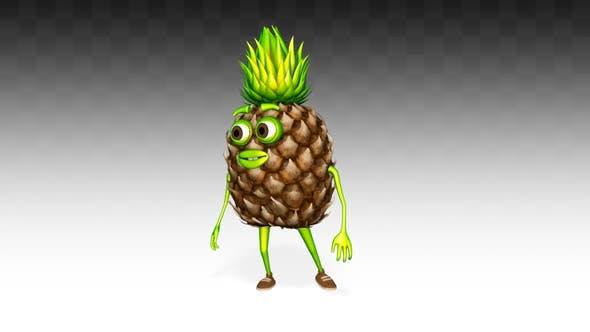 Pineapple Looks Around