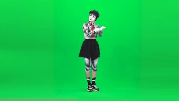Thumbnail for Mime Girl Acting Like She Postwoman