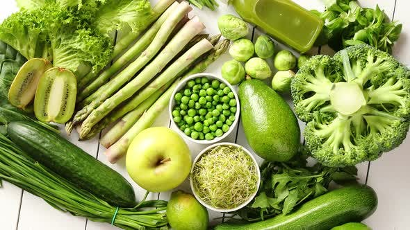 Thumbnail for Green Antioxidant Organic Vegetables, Fruits and Herbs