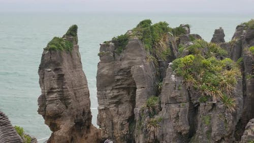 Cliff at Punakaiki, West Coast