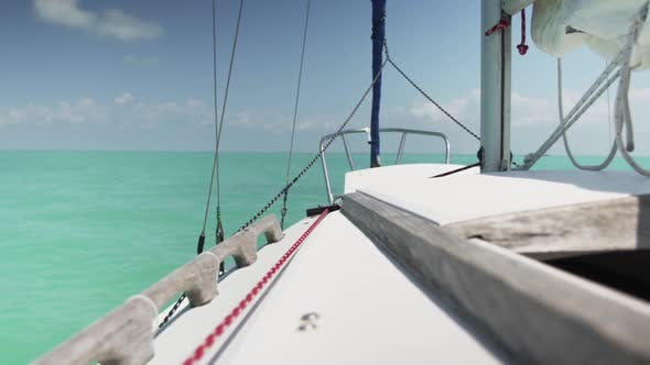 Thumbnail for View Of Horizon From A Sailboat In The Sea 21