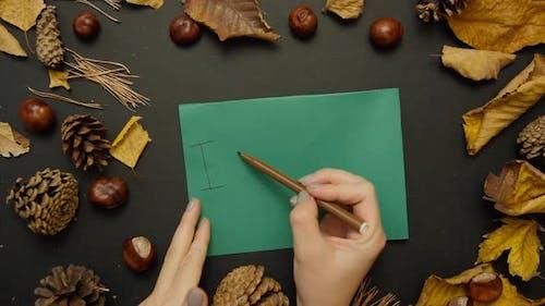 Write I Love Autumn