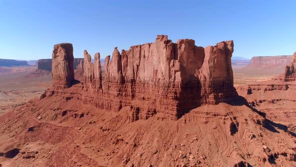 Thumbnail for Monument Valley Aerial. Day Time. Summer Season. Sunny Sky.